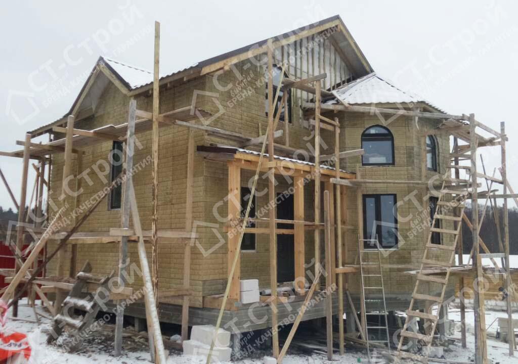 Строительство коттеджа из газобетона (Дикая)