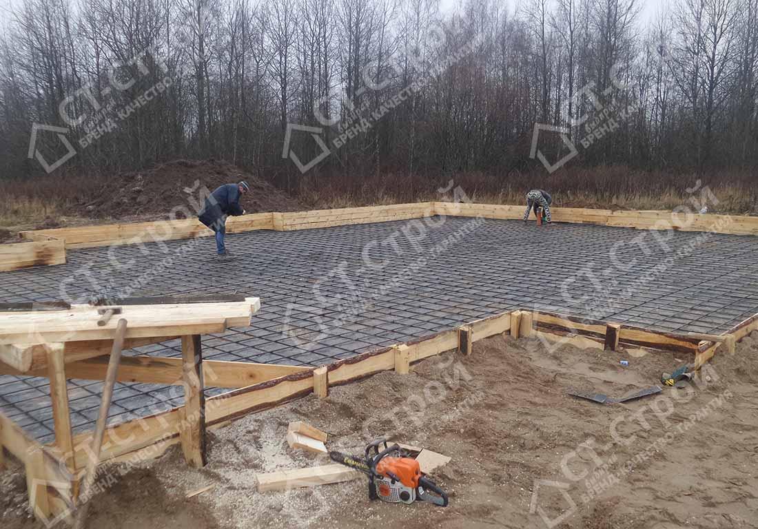 Строительство коттеджа из газобетона (Золотавино)